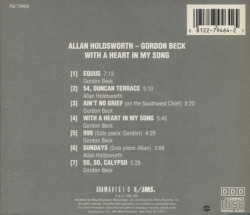 ALLAN HOLDSWORTH & GORDON BECK/With A Heart In My Song(Used CD) (1988/2nd) (アラン・ホールズワース&ゴードン・ベック/UK)