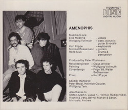 AMENOPHIS/You & I(Used CD) (1988/2nd) (アメノフィス/German)
