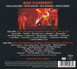 BAD COMPANY/Live 1977 & 1979(Used 2CD) (1977+79/live) (バッド・カンパニー/UK)