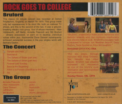 BRUFORD/Rock Goes To Collage (1979/Live) (ブルーフォード/UK)