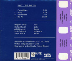 CAN/Future Days(フューチャー・デイズ)(Used CD) (1973/5th) (カン/German)