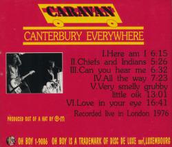 CARAVAN/Canterbury Everywhere(Used CD) (1976/Live) (キャラヴァン/UK)