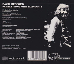 DAVID BEDFORD/Nurses Song With Elephants(Used CD) (1972/1st) (デヴィッド・ベッドフォード/UK)