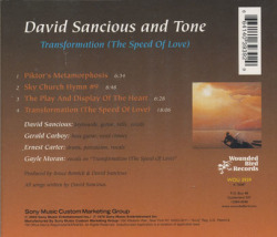 DAVID SANCIOUS AND TONE/Transformation (The Speed Of Love)(Used CD) (1976/2nd) (デヴィッド・サンシャス&トーン/USA)