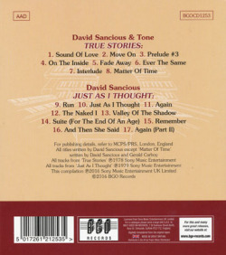 DAVID SANCIOUS/True Stories+Just As I Thought (1978+79/3+4th) (デヴィッド・サンシャス/USA)