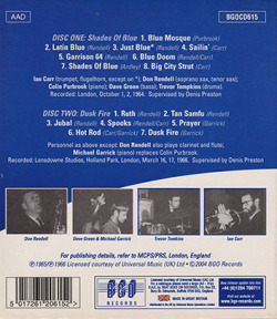 DON RENDELL/IAN CARR QUINTET/Shades Of Blue + Dusk Fire(Used 2CD) (ドン・レンデル/イアン・カー・クィンテット/UK)