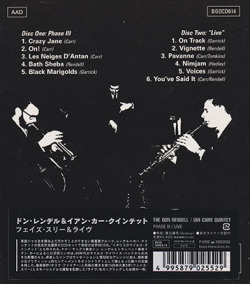 DON RENDELL/IAN CARR QUINTET/Phase III + Live(Used 2CD) (ドン・レンデル/イアン・カー・クィンテット/UK)