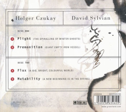 DAVID SYLVIAN & HOLGER CZUKAY/Plight&Premonition + Flux&Mutability (1988+89/1+2th) (シルヴィアン&シューカイ/UK,German,Poland)