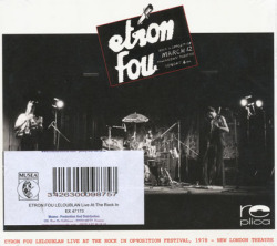 ETRON FOU LELOUBLAN/Live At The Rock Opposition Festival 1978 (1978/Live) (エトロン・フー・ルルーブラン/France)