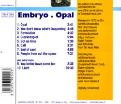 EMBRYO/Opal (1970/1st) (エンブリオ/German)