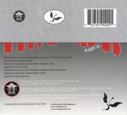 FRED FRITH/Impur II(Used CD) (2009/25th) (フレッド・フリス/UK)