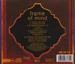 FRAME/Frame Of Mind (1972/only) (フレーム/German)