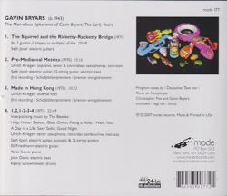 GAVIN BRYARS/Marvellous Aphorisms Of Gavin Briars: The Early Years (2007) (ギャヴィン・ブライアーズ/UK)