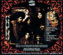 GOLD/Oregins S.F.1970 (1969-70/Unreleased) (ゴールド/USA)