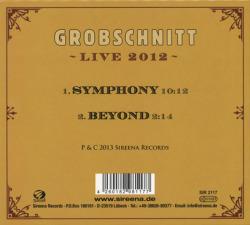 GROBSCHNITT/Symphony: Live 2012(Used CDS) (2013/Live) (グローブシュニット/German)