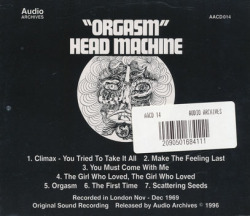 HEAD MACHINE/Orgasm(Used CD) (1970/only) (ヘッド・マシーン/UK)