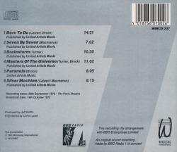 HAWKWIND/BBC Radio 1 Live In Concert 1972(Used CD) (1972/Live) (ホークウインド/UK)