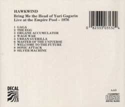 HAWKWIND/Bring Me The Head Of Yuri Gagarin: Live At The Empire Pool 1976(Used CD) (1976/Live) (ホークウインド/UK)