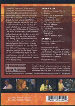 JACQUI McSHEE'S PENTANGLE/In Concert (2000/DVD) (ジャッキー・マクシーズ・ペンタングル/UK)