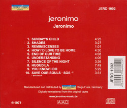 JERONIMO/Same (1971/2nd) (ジェロニモ/German)