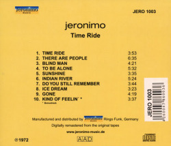 JERONIMO/Time Ride (1972/3rd) (ジェロニモ/German)
