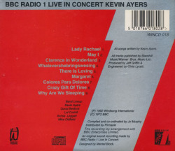 KEVIN AYERS/BBC Radio 1 Live In Concert(Used CD) (1972/Live) (ケヴィン・エアーズ/UK)