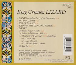 KING CRIMSON/Lizard(Used CD) (1970/3rd) (キング・クリムゾン/UK)