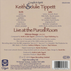 KEITH & JULIE TIPPETT/Live At The Purcell Room: Couple In Spirit (2010/Live) (キース&ジュリー・ティペット/UK)