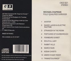 MICHAEL CHAPMAN/Fully Qualified Survivor(Used CD) (1970/3rd) (マイケル・チャップマン/UK)