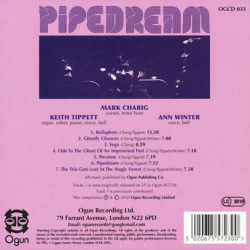 MARK CHARIG with KEITH TIPPETT & ANN WINTER/Pipedream (1977/only) (マーク・チャリグ,キース・ティペット,アン・ウインター/UK)