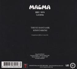 MAGMA/BBC 1974 Londres (1974/Live) (マグマ/France)
