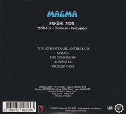 MAGMA/Eskahl 2020: Bordeaux-Toulouse-Perpignan(2CD) (2021/Live) (マグマ/France)