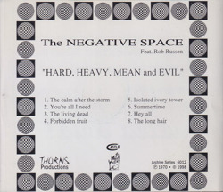 NEGATIVE SPACE/Hard Heavy Mean & Evil(Used CD) (1969/only) (ネガティヴ・スペース/USA)