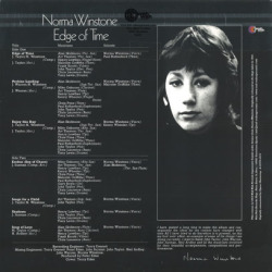 NORMA WINSTONE/Edge Of Time(LP) (1972/1st) (ノーマ・ウインストン/UK)