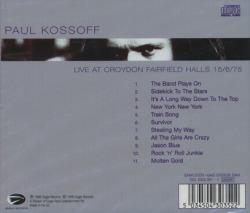 PAUL KOSSOFF/Live At Croydon Fairfield Halls 15/6/75 (1975/Live) (ポール・コゾフ/UK)