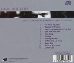 PAUL KOSSOFF/Live At Croydon Fairfield Halls 15/6/75(Used CD) (1975/Live) (ポール・コゾフ/UK)