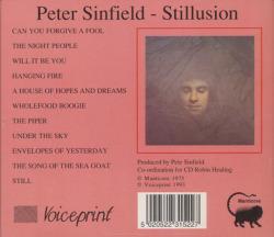 PETE SINFIELD/Stillusion(スティルージョン)(Used CD) (1973/1st) (ピート・シンフィールド/UK)