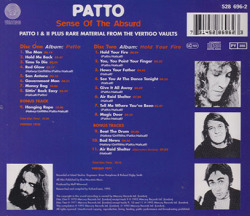 PATTO/Sense Of The Absurd(Used 2CD) (1970-71/Comp.) (パトゥー/UK)