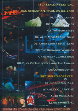 RETURN TO FOREVER/The Road To Return: Live 2008 (2008/DVDR) (リターン・トゥ・フォーエヴァー/USA)