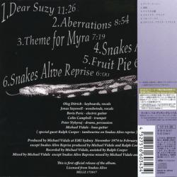SNAKES ALIVE/Same(スネイクス・アライヴ) (1974-75/Unreleased) (スネイクス・アライヴ/Australia)
