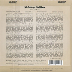 SHIRLEY COLLINS/English Song(7inch EP) (1958/EP) (シャーリー・コリンズ/UK)