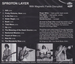 SPROTON LAYER/With Magnetic Fields Disrupted (1970/Unreleased) (スプロートン・レイヤー/USA)