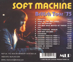 SOFT MACHINE/British Tour '75 (1975/Live) (ソフト・マシーン/UK)