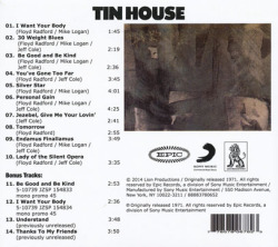 TIN HOUSE/Same(+4bonus) (1971/only) (ティン・ハウス/USA)