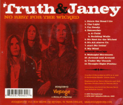 TRUTH AND JANEY/No Rest For The Wicked (1976/1st) (トゥルース・アンド・ジャニー/USA)