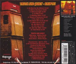TRUTH AND JANEY/Erupts!(イラプツ!)(Used CD) (1976/Live) (トゥルース・アンド・ジャニー/USA)