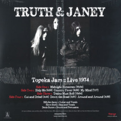 TRUTH AND JANEY/Topeka Jam: Live 1974(2LP) (1974/Live) (トゥルース・アンド・ジャニー/USA)