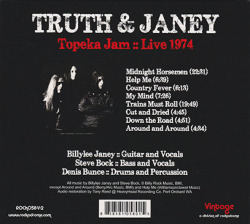 TRUTH AND JANEY/Topeka Jam: Live 1974 (1974/Live) (トゥルース・アンド・ジャニー/USA)