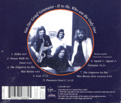 VAN DER GRAAF GENERATOR/H to He Who Am The Only One (1970/3rd) (ヴァン・ダー・グラーフ・ジェネレーター/UK)